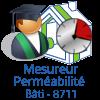 mesureur perméabilité bâti - étanchéité à l'air - qualibat 8711
