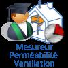 Mesureur perméabilité ventilation Qualibar 8721